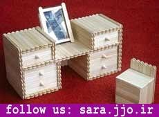 کاردستی با چوب مربعی