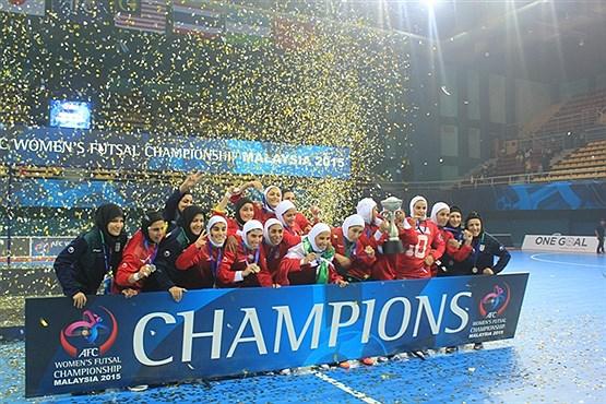 تصویر واکنش های اینستاگرامی به قهرمانی تیم ملی فوتسال بانوان در آسیا +تصاویر