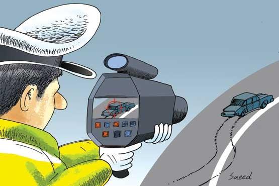 تصویر سرعت غیرمجاز در صدر تخلفات رانندگی