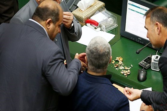 پوست گردو در مجلس !+عکس
