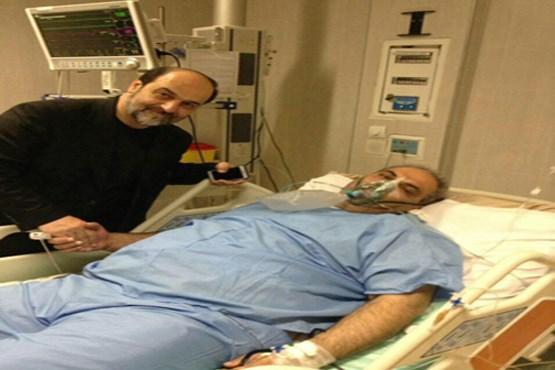 گزارشگر مطرح فوتبال روی تخت بیمارستان +عکس