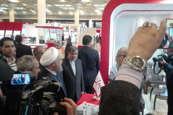 بازدید رییسجمهور از بیست و دومین نمایشگاه مطبوعات +عکس