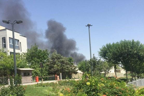 آتش سوزی در شهرک غرب تهران +عکس