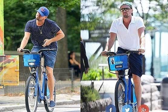 دوچرخه سواری معنادار ستاره مشهور هالیوود +عکس