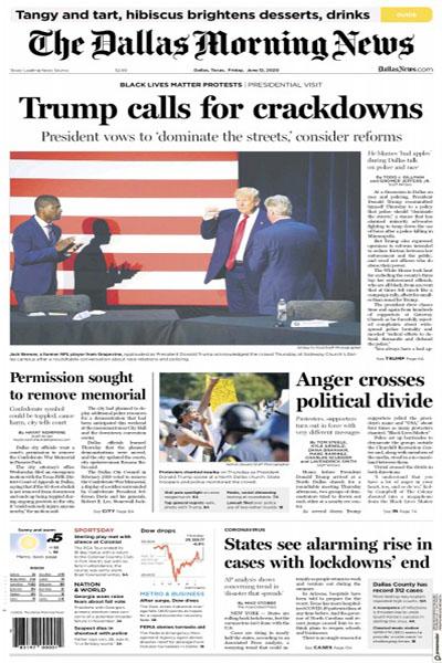 مرور صفحه نخست روزنامه های آمریکا و بریتانیا (گزارش تصویری)