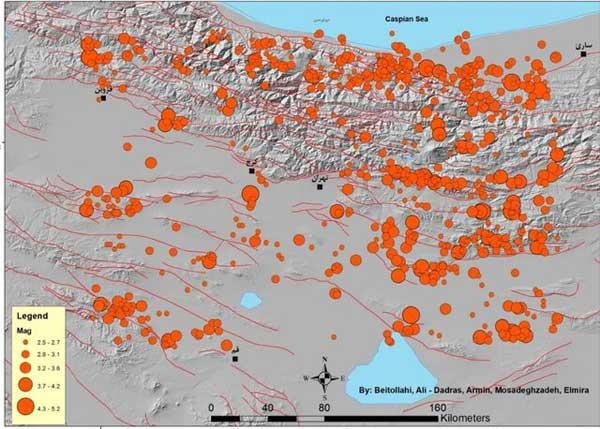 ثبت زمین لرزه ۴ ریشتری در استان خوزستان/ وقوع ۲ زلزله در اطراف تهران