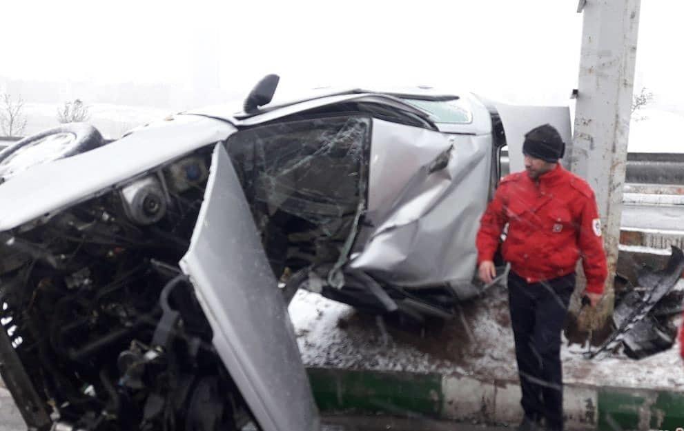 تصادف زنجیرهای در تبریز سه مصدوم برجا گذاشت