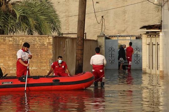 امدادرسانی به پنج هزار گرفتار در آبگرفتگی خوزستان