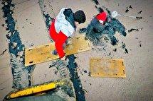 حادثه گرفتار شدن یک فرد در باتلاق دریاچه ارومیه