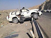 خودروی حامل معاون وزیر راه و شهرسازی در قزوین دچار سانحه شد