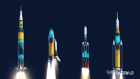 اگر راکتهای فضایی شفاف بودند+عکس